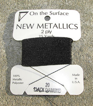 Metallictråd black diamond 25 yards