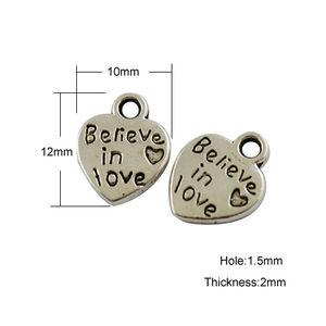 Berlocker hjärtan *Believe in love* 5st