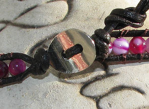 Wraparmband lila 2 varv