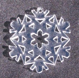 Plexiglas hänge Snöflinga 5 50mm