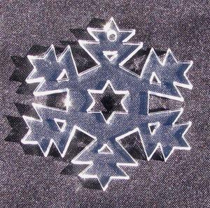 Plexiglas hänge Snöflinga 4 50mm
