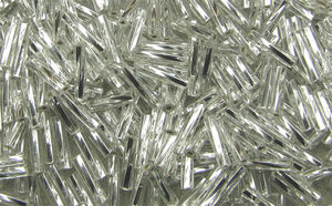 Glasstavar 2x9mm crystal silverline 50g