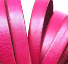 Lderrem platt 10mm fuchsia 20cm