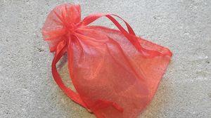 Organzapåsar enfärgade röda 10x12cm 10st