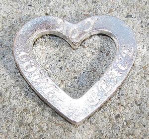 Budskapshjärta JOY - LOVE - PEACE