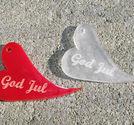 Plexiglas hänge bulligt hjärta God Jul