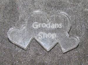 Plexiglas hänge trippelhjärta