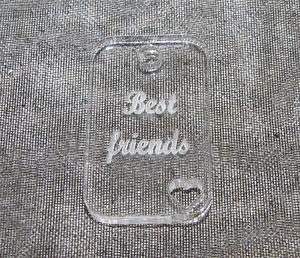 Plexiglas hänge rektangel *Best friends*