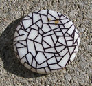 Snckskalscoin svartvit crackle 30mm