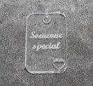 Plexiglas hänge rektangel *Someone special*