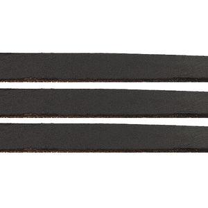 Läderrem platt 10mm svart 1m