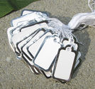 Prislappar vita med silverkant 100st