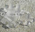 Plexiglas hänge puzzlebit liten