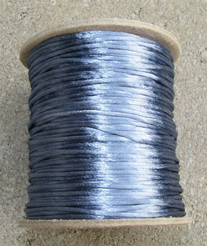 Satintråd 2mm williamsburgblå 3 meter