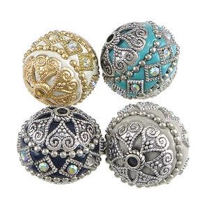 Indonesisk pärla lyx olika färger 20mm