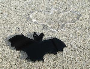 Plexiglas hänge fladdermus