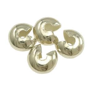 Klämpärlegömmor 6mm 10st mörk silver