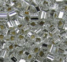 Seedbeads tjeckiska 2.5mm 2-cut mix form crystal SL 50g
