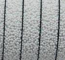 Läderrem platt 10mm caviar vit 20cm