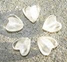 Hjärtan silverfoil 12mm vita