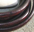 Regaliz läderrem 6x10mm brun 20cm