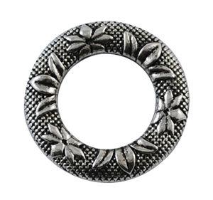 Ring mönstrad 25mm antiksilver