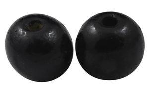 Träpärlor runda 12mm svarta 20st