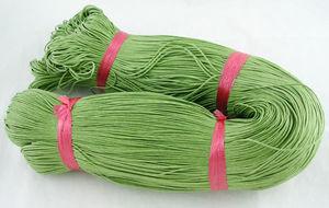 Vaxad bomullstråd 1mm ljusgrön 10m