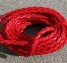 Rem flätad röd 3mm