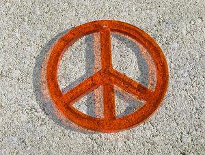 Plexiglas hänge peacemärke 50mm