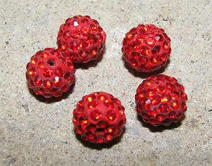 Strasspärla 10mm röd